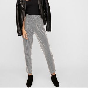 Stripped Pull on Ankle Pant